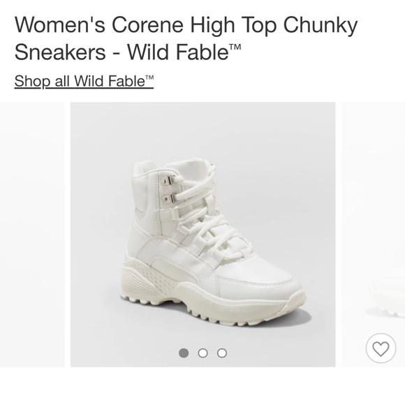 Wild Fable Corene High Top White sz 7